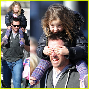 Hugh Jackman Has The World On His Shoulders