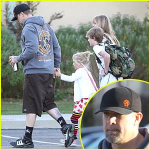 Jesse James Takes Kids to School Amid Infidelity Rumors