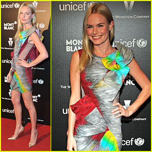 Kate Bosworth Brings Color to a Cocktail Party