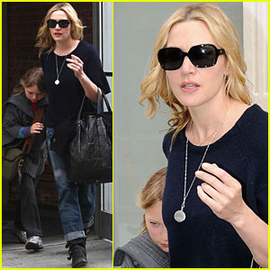 Kate Winslet Steps Out Without Her Wedding Ring
