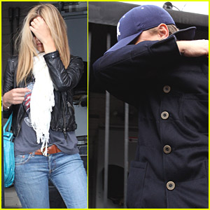 Leonardo DiCaprio & Bar Refaeli Take Cover