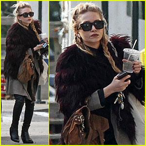 Mary Kate Olsen Has A Furry Friday