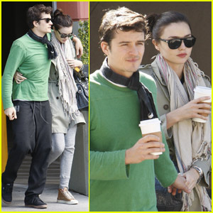 Miranda Kerr & Orlando Bloom: PDA Coffee Couple