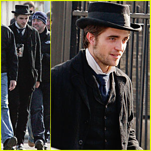 Robert Pattinson Suits Up on the 'Bel Ami' Set