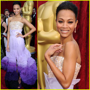 Zoe Saldana -- Oscars 2010 Red Carpet