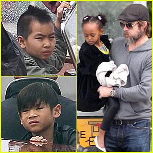 Brad Pitt: Boat Bonding with the Kids!