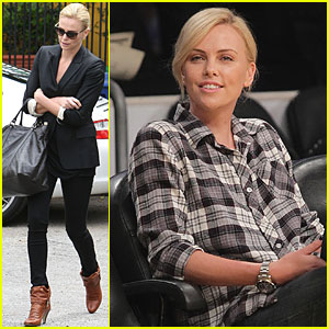 Charlize Theron Leaves the Gym in Gucci