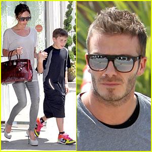 David Beckham: Family Frozen Yogurt Run!