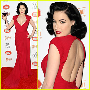 Dita Von Teese Mounts Crazy Horse