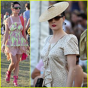 Katy Perry & Dita Von Teese: Coachella Chicks