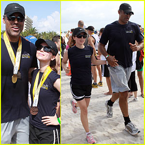 Eliza Dushku: South Beach Triathlon with Rick Fox