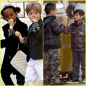 Jolie-Pitt Kids Scream for Ice Cream!