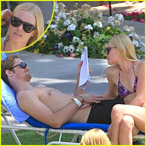 Kate Bosworth & Alexander Skarsgard: Poolside PDA