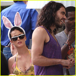 Katy Perry & Russell Brand Throw A Hoppin' Easter Party
