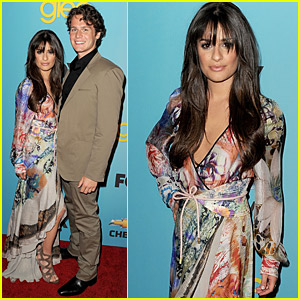Lea Michele: Glee's Spring Fling with Jonathan Groff!