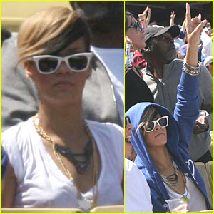 Rihanna Cheers On Matt Kemp From The Stands