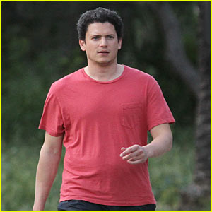 Wentworth Miller 'Still Working' On His Tree Trunk Arms