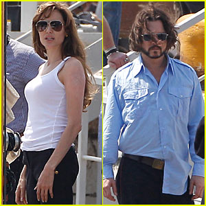 Angelina Jolie & Johnny Depp: Water Taxi Twosome