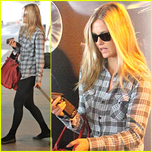 Bar Refaeli is Pretty in Plaid