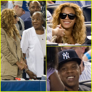 Beyonce: Yankees Game with Jay-Z's Grandmother!