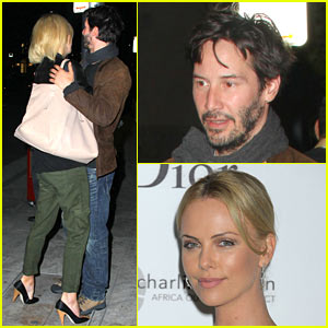 Charlize Theron &#038; Keanu Reeves: Kissing Couple!