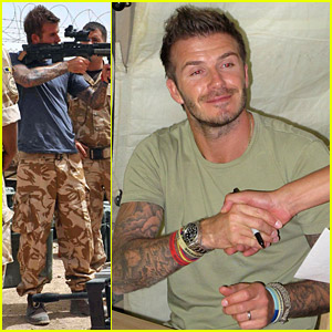 David Beckham Boosts British Troop Morale