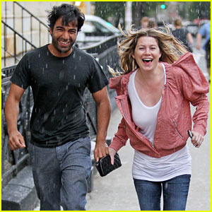 Ellen Pompeo: Caught In The Rain with Harry Josh!