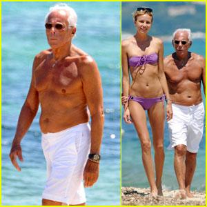 Giorgio Armani: Shirtless in St. Tropez!