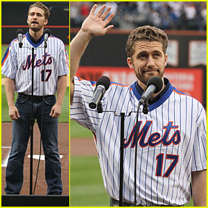 Matthew Morrison: National Anthem at Mets Game!