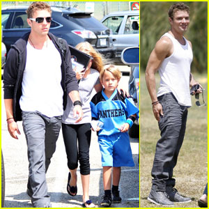 Ryan Phillippe: Flag Football with Deacon!