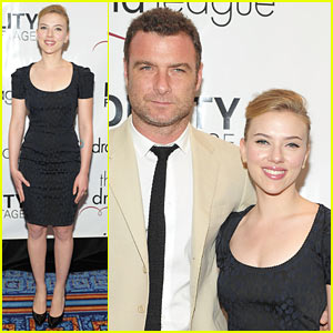 Scarlett Johansson: Drama League Awards with Liev Schrieber!