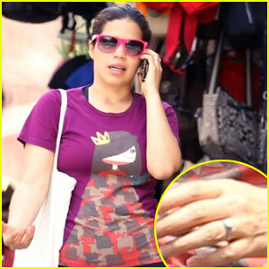 America Ferrera Wears Engagement Ring Around NYC