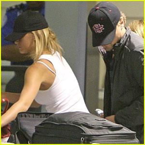 Leonardo DiCaprio & Bar Refaeli Hide Under Hats