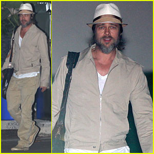 Brad Pitt: Working Late in Culver City!