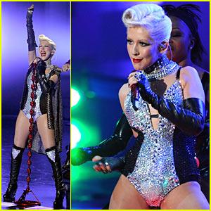 Christina Aguilera Hearts Blinking Crotches -- VIDEO