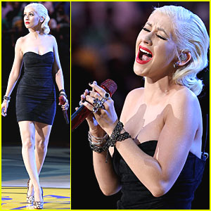 Christina Aguilera: National Anthem at NBA Finals!