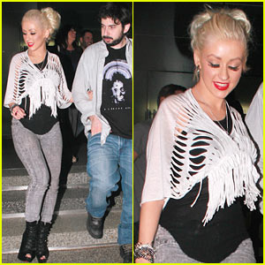 Christina Aguilera: Lakers Game After-Party!