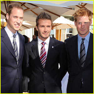 David Beckham Meets Prince William & Harry for World Cup Bid