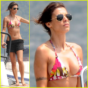 Elisabetta Canalis: Bikini Boat Ride