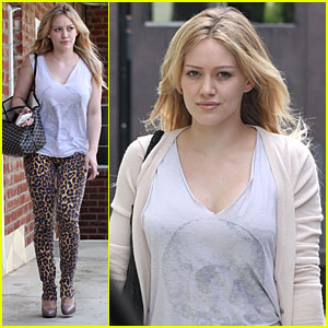 Hilary Duff is Leopard Print Pretty