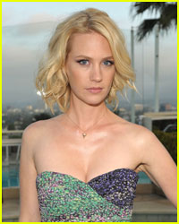 January Jones Leaves 4-Car Accident