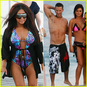 Snooki Has A Situation On The Beach