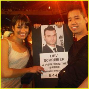 Lea Michele & Just Jared: Liev Schreiber Sandwich!
