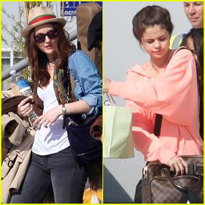 Leighton Meester & Selena Gomez: Private Plane from Paris!