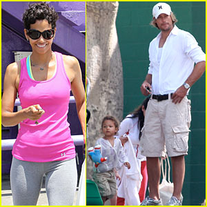Nahla Aubry's Playground Romp, Halle Berry's Gift Store Pick-Up
