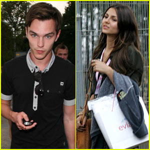 Nicholas Hoult: Wimbledon with Victoria Justice!