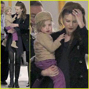Nicole Kidman & Sunday Rose: Sydney Arrival!
