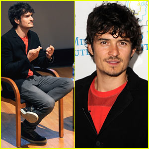 Orlando Bloom Talks About His Dyslexia During Lecture Series