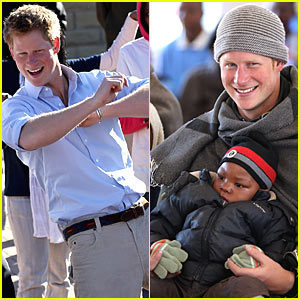 Prince Harry Visits Orphans in Lesotho with Prince William
