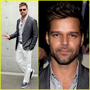 Ricky Martin: Milan Fashion Week Man!